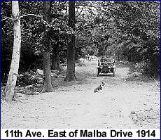 11th Ave. east of Malba Drive Circa 1914